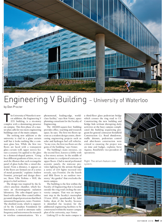 Engineering V Building - University of Waterloo