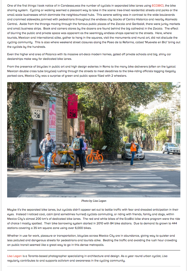 Bicycles Catch On in Traffic-Clogged Mexico City | Momentum Mag