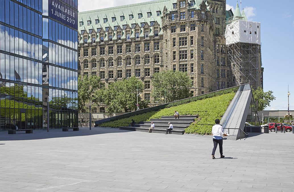A place to sit at the Bank of Canada.